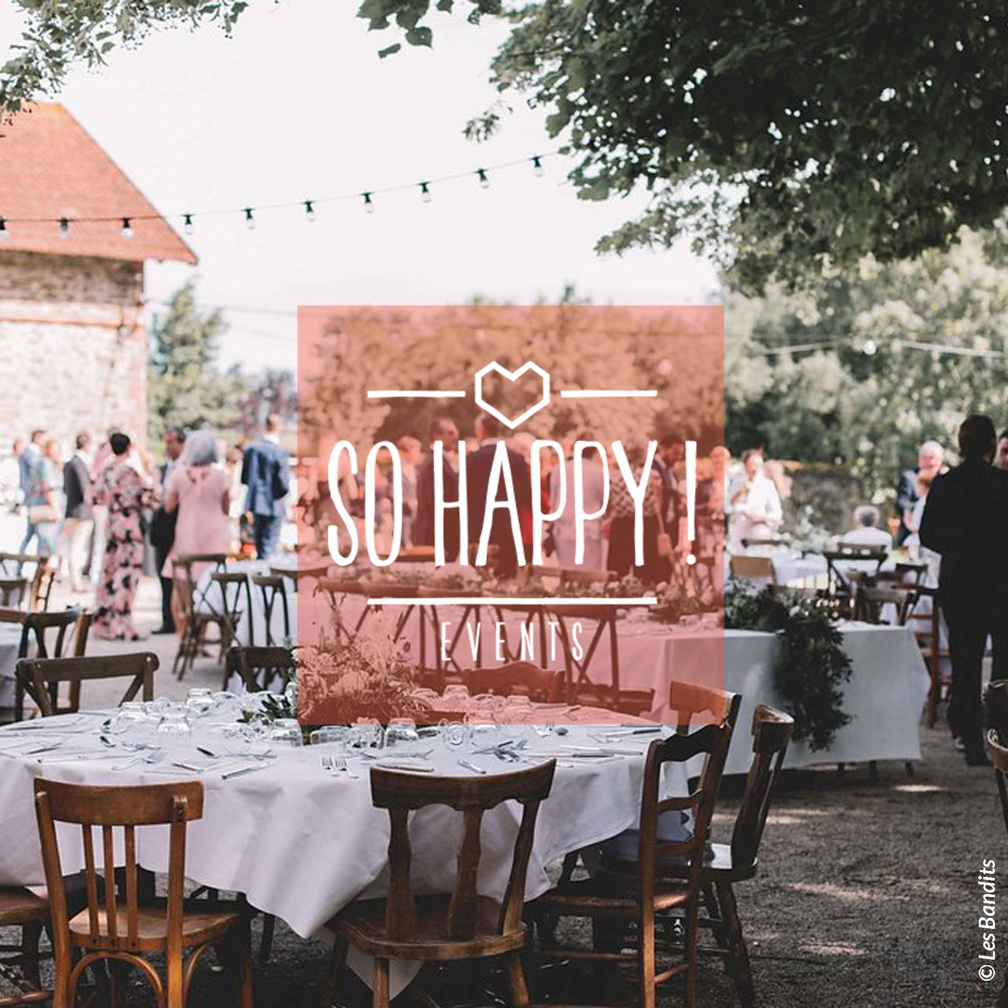 Organisation, décoration et coordination de vos événements par So Happy, wedding planner basée à la Roche sur Yon en Vendée
